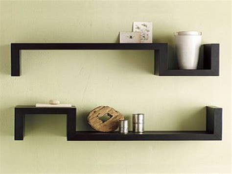 bloombety black wall shelves with symetrized design