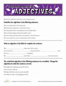 adjective worksheets 4th grade davezan