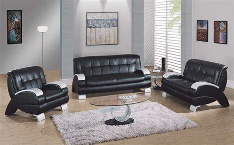 Living Room Leather Furniture Living Room Design Black Leather Sofa Home Design Ideas