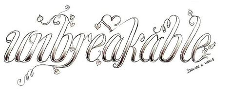 quot unbreakable quot tattoo design by denise a wells by denise