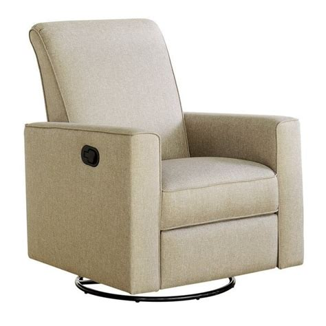 glider recliner nursery chair bowery hill nursery swivel glider recliner chair in taupe