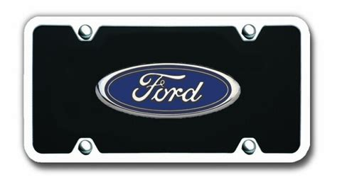 Ford Vanity Plates by Ford Logo Black License Plate Vanity Tag With Chrome Frame Ford License Plates Vanity