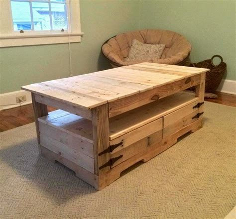 project table with storage affordable and easy pallet wood ideas dearlinks