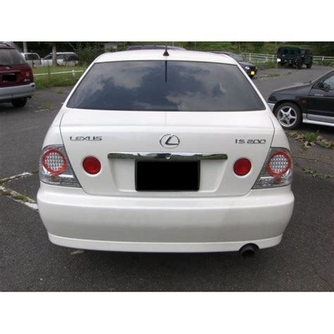 lexus altezza stock lexus is200 is300 toyota altezza sxe sxe10 chrome trunk