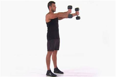 dumbbell skier swing workout to get rid of moobs and tone your chest workouts