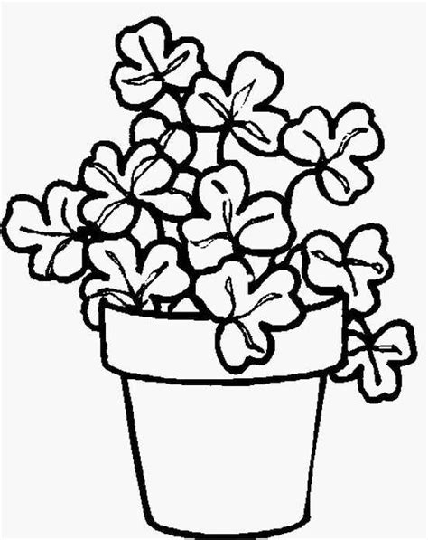 coloring pages of flowers for s day pot colouring pages clipart best