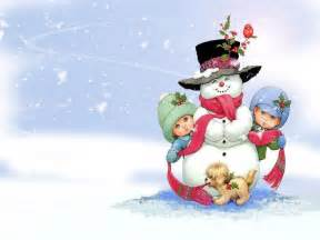 Free snowman on christmas computer desktop wallpapers pictures