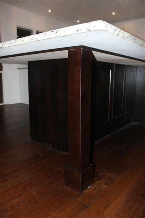 massive island leg supports kitchen island project countertops renovation adventures the happy housewife