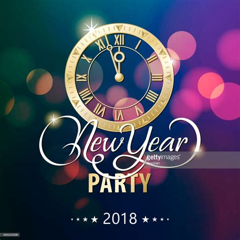 new year 2018 countdown new year countdown 2018 vector getty images