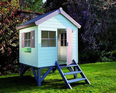maisonnette en bois sur pilotis 3431 cabane en bois pour enfant sur pilotis 147x182x210cm