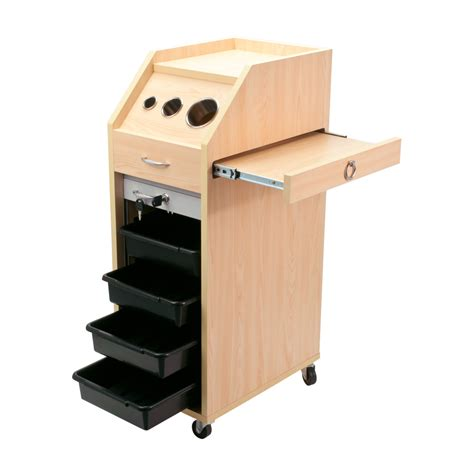 tattoo equipment trolley wood styling station locking trolley salon equipment cart