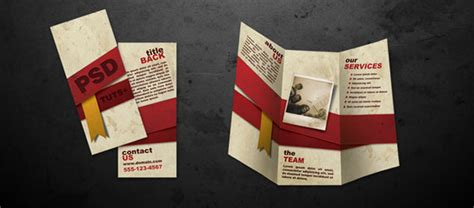 design leaflet in photoshop how to create folded brochure like in photoshop graphic