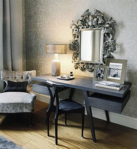 Baroque Home Decor | decoration with desk and baroque frame picsdecor com
