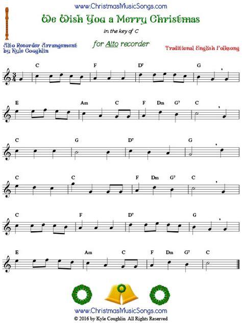 merry christmas  recorder  sheet