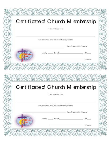 church membership certificate free download