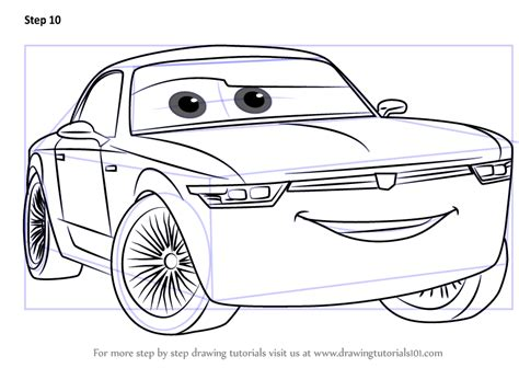 Cars 3 Sketches by Learn How To Draw Sterling From Cars 3 Cars 3 Step By