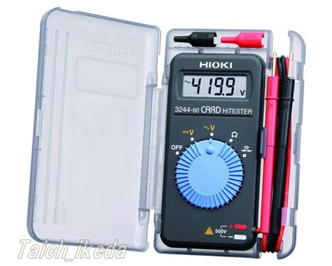 Multimeter Digital Hioki hioki pocket digital multimeter card tester 3244 60 made