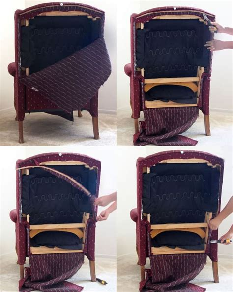 Wingback Chair Upholstery Tutorial by Fabric Chair Makeover Before After A Of Rainbow