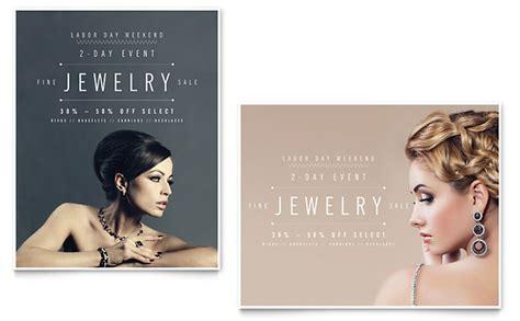 fine jewelry sale poster template design