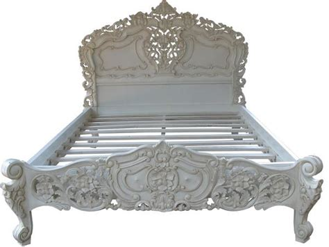 French rococo bed antique white lock stock amp barrel