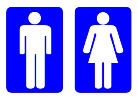 female bathroom male and female bathroom signs clipart best