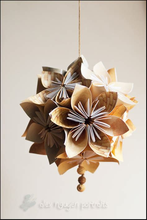 Origami Paper Seattle - origami flowers and kusudama balls seattle area