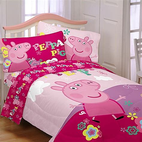 peppa pig twin bedding peppa pig twin full reversible comforter in pink bed