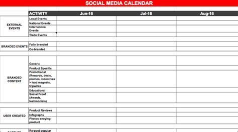 media plan template best social media marketing plan template edigital