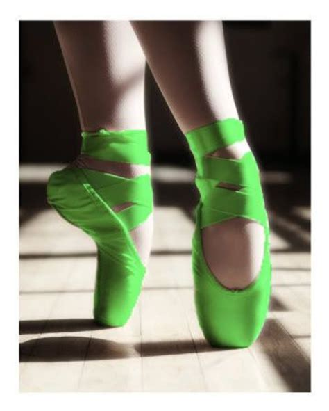 green ballet slippers green pointe shoes another fort niece