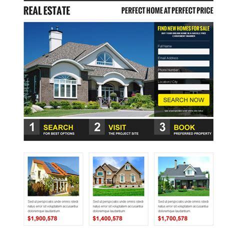 Landing Page Design The Best Real Estate Landing Pages by Best Real Estate Home Page Design Gallery Decoration