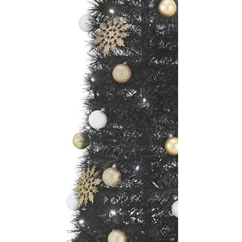 grandeur pop up black christmas tree 6ft christmas