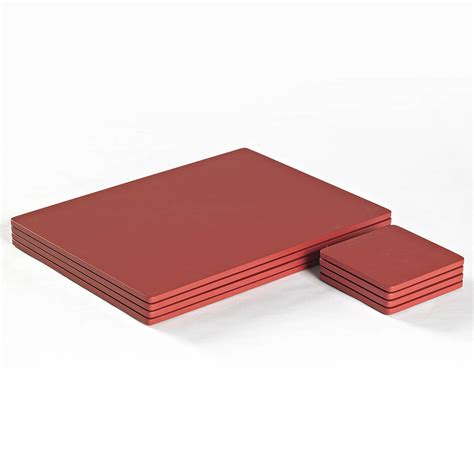 Table Mats And Coaster Sets by Painted Wood Placemat Set Or Coaster Set By Simply Tabletop Notonthehighstreet