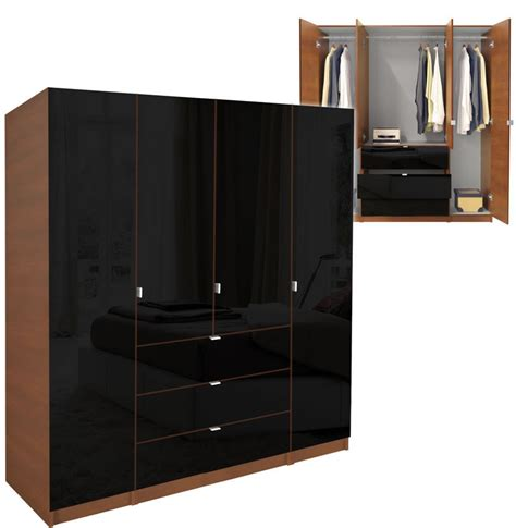 Black Wardrobe Closet by Alta Armoire Plus Closet Package Contempo Space