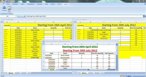 Compare Spreadsheets by 4 Free Add Ins To Compare Excel Files