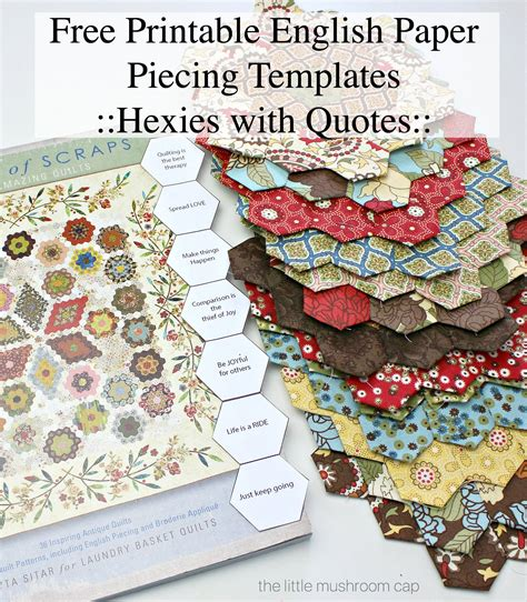 free patterns english paper piecing free printable 7 8 quot hexagon paper pieces the little