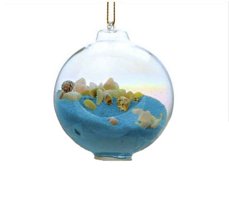 buy blue sand glass bubble christmas tree ornament beach