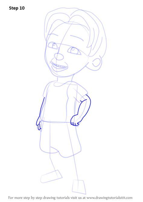 tutorial upin ipin flanel learn how to draw dzul from upin ipin upin ipin step