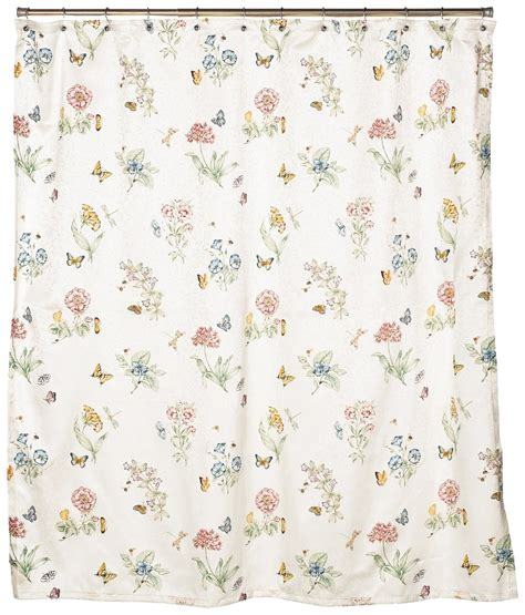 lenox butterfly meadow shower curtain lenox butterfly meadow shower curtain ebay