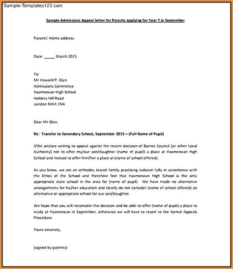Appeal Letter To Insurance Company From Provider Appeal Letter Financial Aid Appeal Letter Sle Appeal Letter Exle For Unemployment