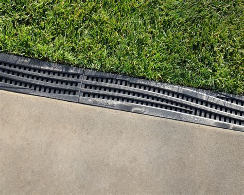 nds 3 in plastic channel drain kit 3 drainage kit w deco poly grates botanical