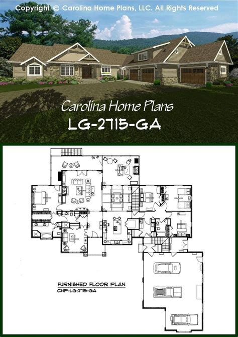 17 Best Images About House Plans With Split Bedroom Layout Luxury Garage Apartment Floor Plans
