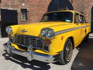 car seat taxi new york new york s classic cabs checker and desoto taxis roll