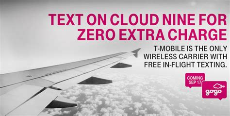 gogo inflight t mobile t mobile adds free gogo inflight texting one mile at a time