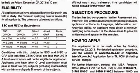 Iba Mba Circular by Education Notice Iba Mba Admission Test 2013 2014
