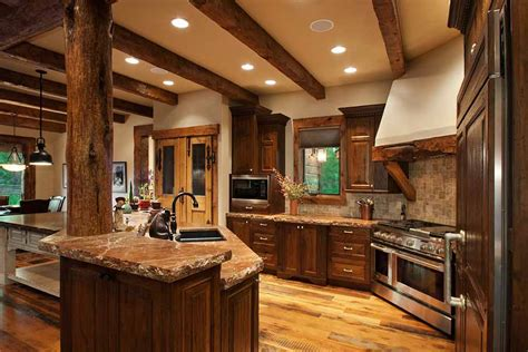 mountain home kitchen design conifer mountain rustic home landmark luxury homes
