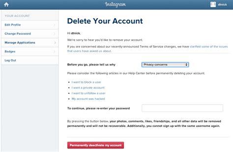 delete account how to delete your instagram account pcworld