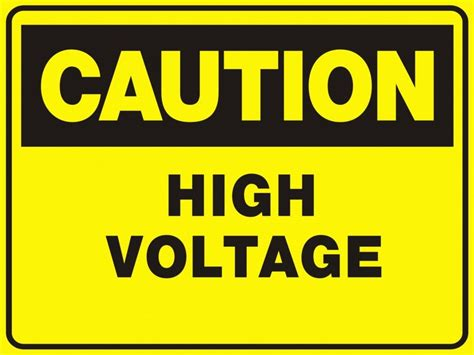 high voltage safety ca74 signs of safety caution high voltage sign caution signs
