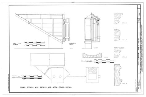 Dormer Window Section The Collins C Diboll Vieux Carr 233 Survey Property Info