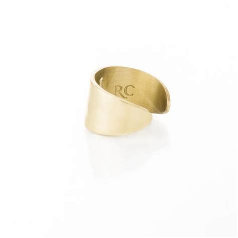 Rc Elephant rc elephant cut out ring gold rustic cuff
