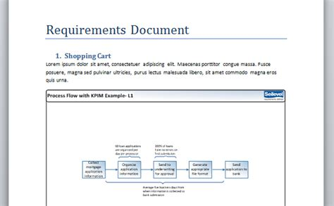 business analyst requirements template business analyst tip visualizing your completed document